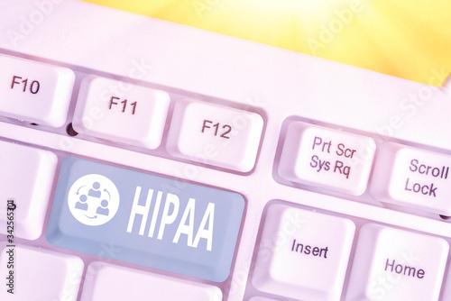 Word writing text Hipaa Canvas Print