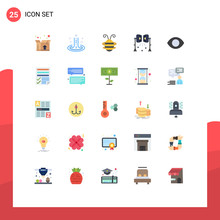 Stock Vector Icon Pack Of 25 L...