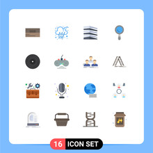 Stock Vector Icon Pack Of 16 L...