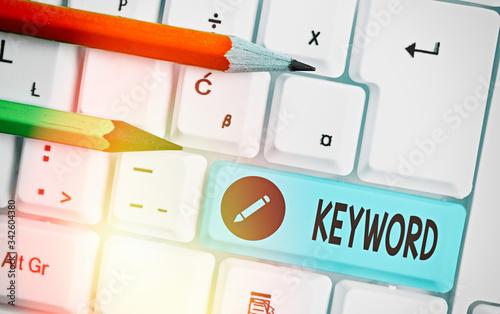 Photo Word writing text Keyword