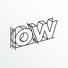 Initial Letter OW With Archite...