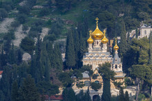 The Orthodox Church Of Maria Magdalena On The Mount Of Olives Near Gethsemane