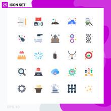 25 Flat Color Concept For Webs...
