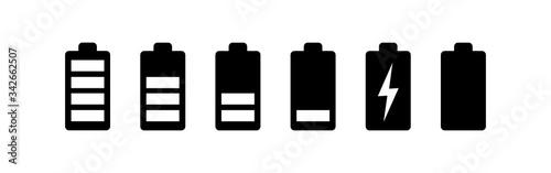Fotografia battery icons set. Battery vector icon
