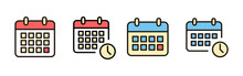 Calendar Icons Set. Calender Symbol. Calendar Vector Icon. Deadline. Date. Time