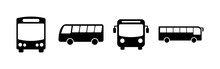 Bus Icons Set. Bus Vector Icon...