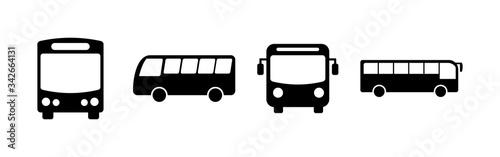 Bus Icons set. Bus vector icon. Public transport symbol. Wallpaper Mural