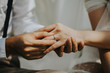 Midsection Of Couple Hands During Engagement