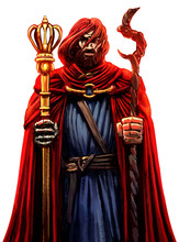 A Stern, Bearded Man In A Red ...