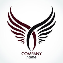 Color Double Wings Logo