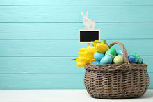Colorful Easter Eggs With Fres...