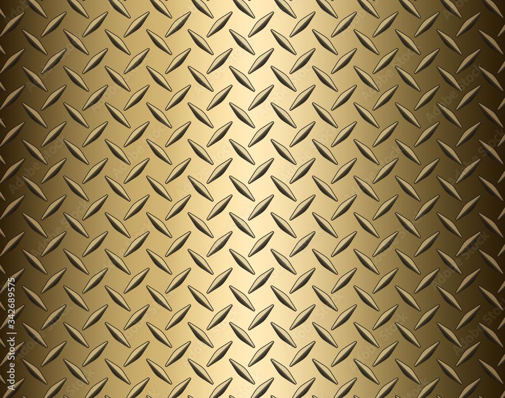 Fototapeta The diamond steel metal texture background