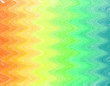 canvas print picture - Zigzag wave blend gradient chock and watercolor with brushe as colorful pan tone mixed orange, yellow, green, turquoise, pink, red, blue, purple and violet colors. Hanppy funny party background using.