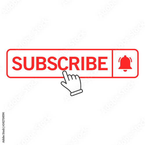 Fotografija Vector illustration of the subscribe button