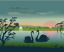 Natural Landscape.vector Illus...