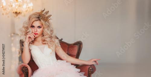 Portrait capricious princess girl Slika na platnu