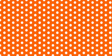 Seamless Pattern With Dots ( Polka Dot Pattern On Amber Background Color)