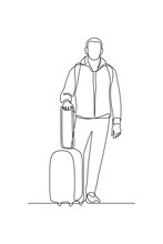 Man With Luggage In Continuous...