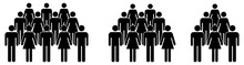 Simple Crowd Icon, Group Of Pe...