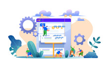 Vector Search Engine Optimization Web Site Page