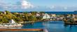 canvas print picture - Panorama vom Hafen in Castries auf St. Lucia / Karibik