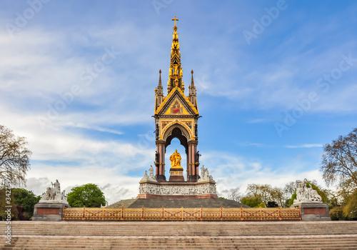 Albert Memorial in Kensington gardens, London, UK Canvas Print