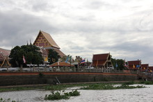 Thai Temples From Ayutthaya River