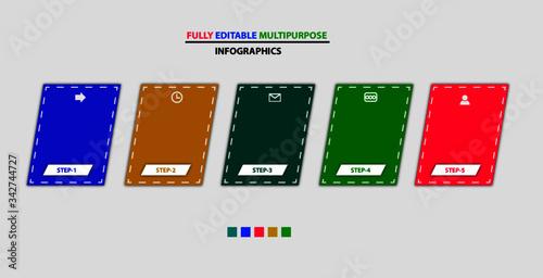 multipurpose vector infographic template design, Tablou Canvas