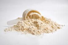 Whey Protein On White