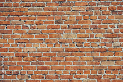 Photo Grunge Brick Wall Horizontal Background