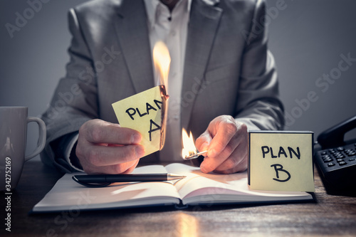 Photo Change from Plan A to business Plan B