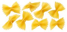 Raw Farfalle Pasta Isolated On...
