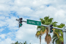 Street Sign Duval Street With ...