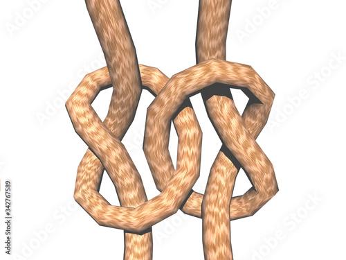 Photo Seil Knoten zum verbinden von Schnüren