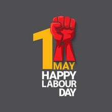 1 May Happy Labour Day Vector ...