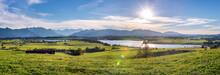 Panoramic Scene At Bavarian Al...
