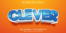 Editable Text Effect - Clever Boy Style