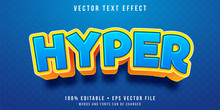 Editable Text Effect - Hyper Kid Style