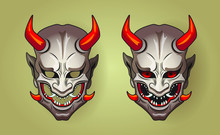 Vector Illustration Of Hannya ...