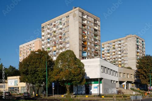 Fototapeta Bloki w centrum miasta obraz