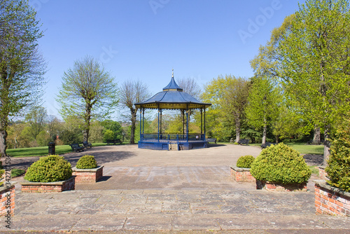 Photo Bandstand in Colchester Castle Park in spring
