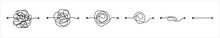 Set Of Messy Clew Symbols Line...