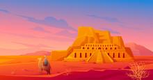 Egypt Desert With Hatshepsut T...