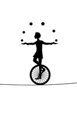 Boy Juggler, He Juggles Balls ...