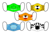 Set Of Designs Reusable Mouth ...