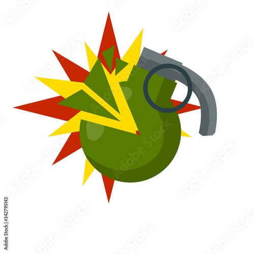 Fotografia, Obraz Grenade explosion