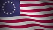 Betsy Ross flag, waving flag of united states looping video