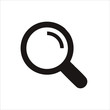 Magnifier glass icon isolated on white background. Magnifier glass icon in trendy design style. Magnifier glass vector icon modern and simple flat symbol for web site, mobile, logo, app, UI.
