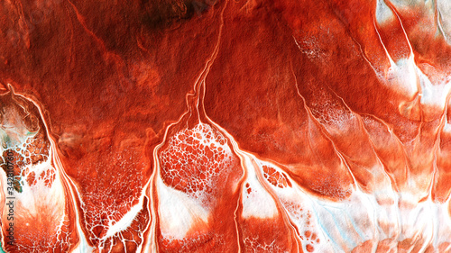 Fototapeta Abstract liquid red white colors paint background