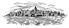 Large Village With Fields En M...